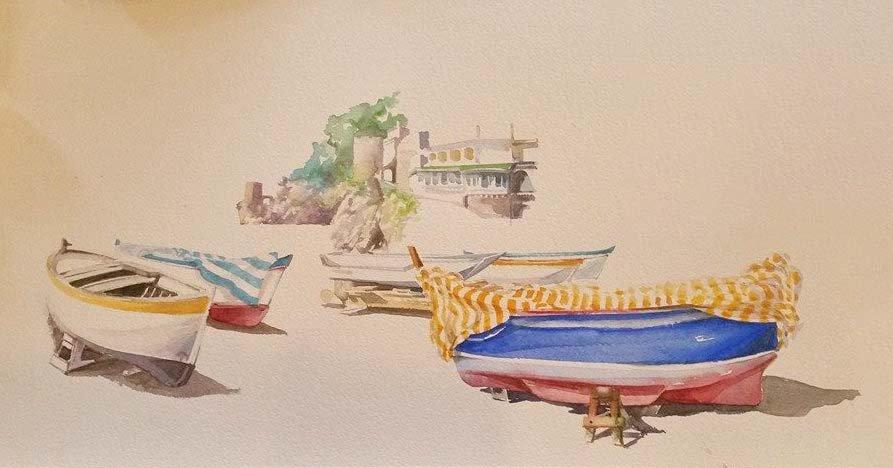 Angeloni-acquerello-barche