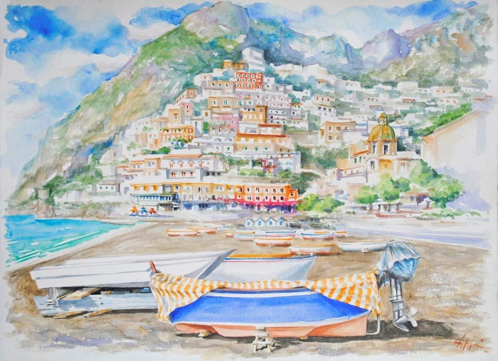 Angeloni-acquerello-barche 03