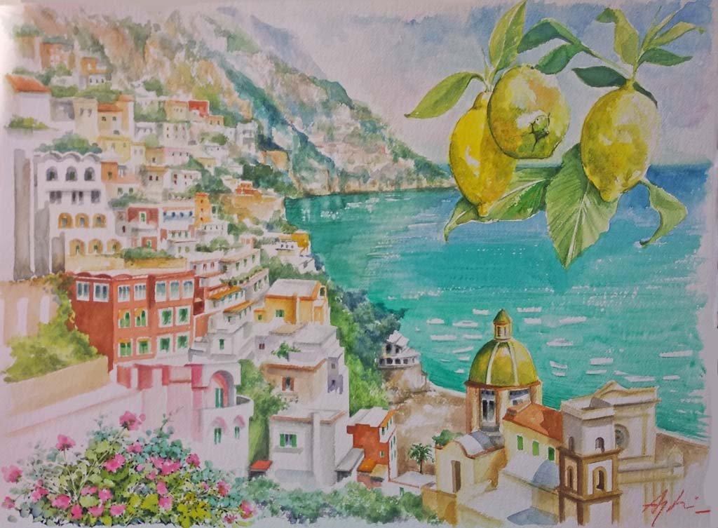 Angeloni-acquerello 04-limoni-a-Positano