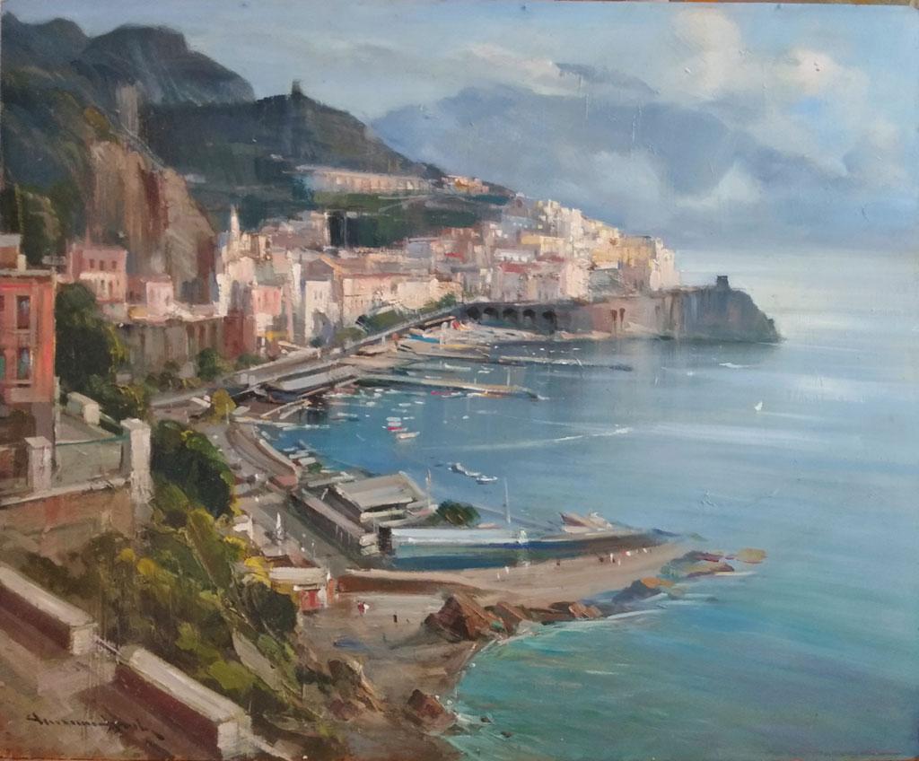 Aprile-Amalfi-olio-su-tavola-cm-50x60