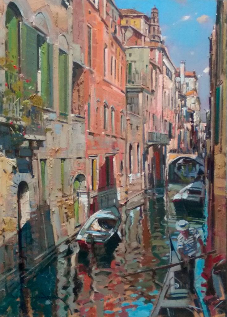 Aprile-Venezia-olio-su-tavola-cm-50x70