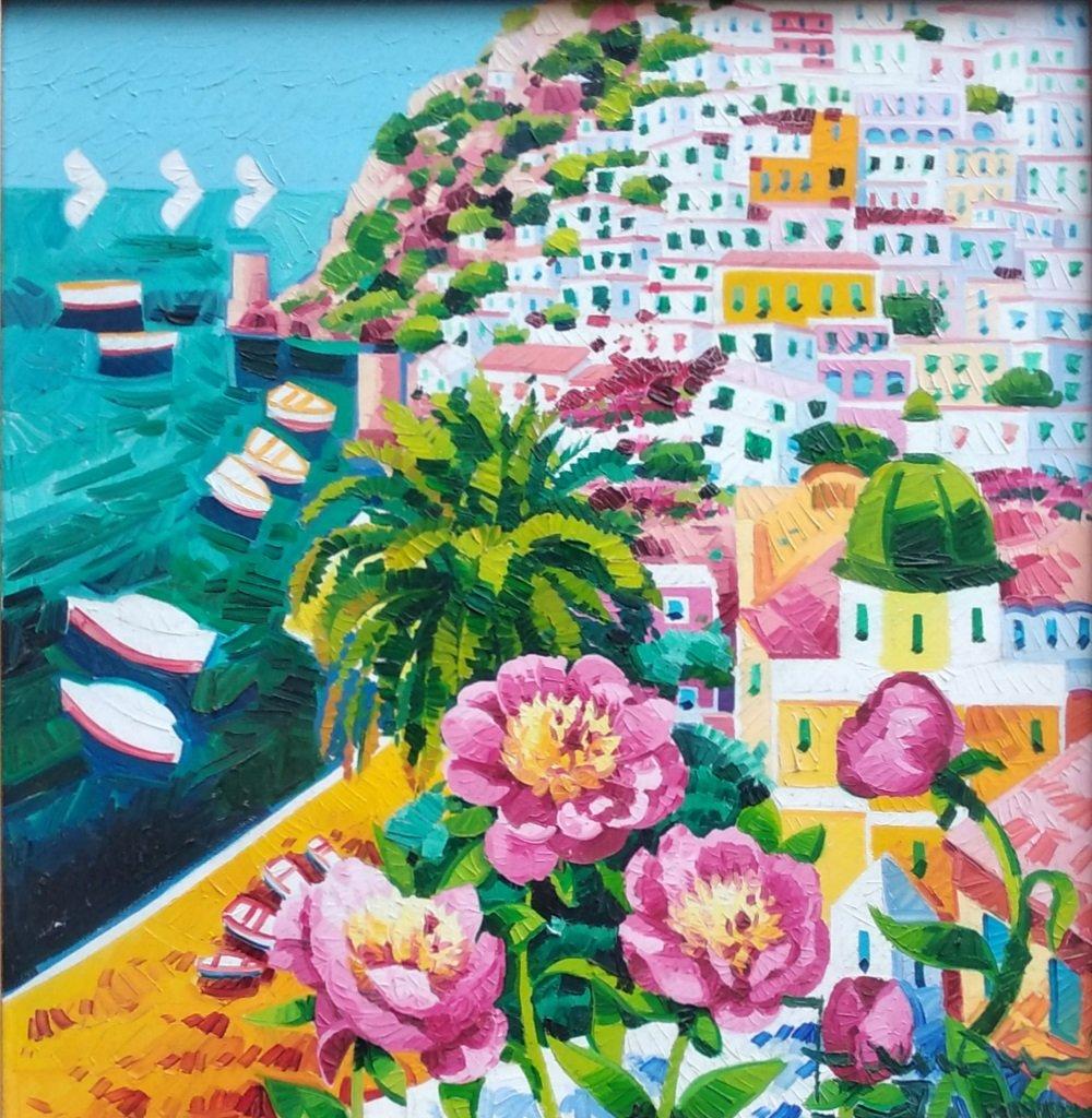 Faccincani: Olio, paesaggio, 50x50 cm