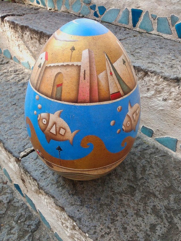 Mirabaso: Uovo Ceramica Blu