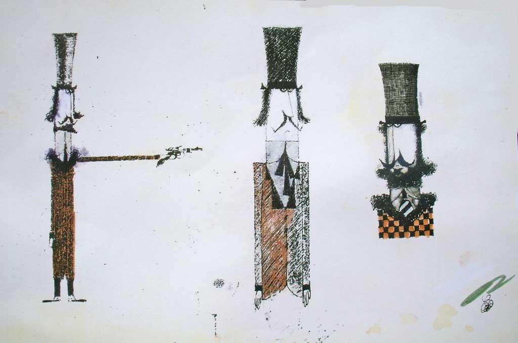 Pascali: Duellanti, tecnica mista