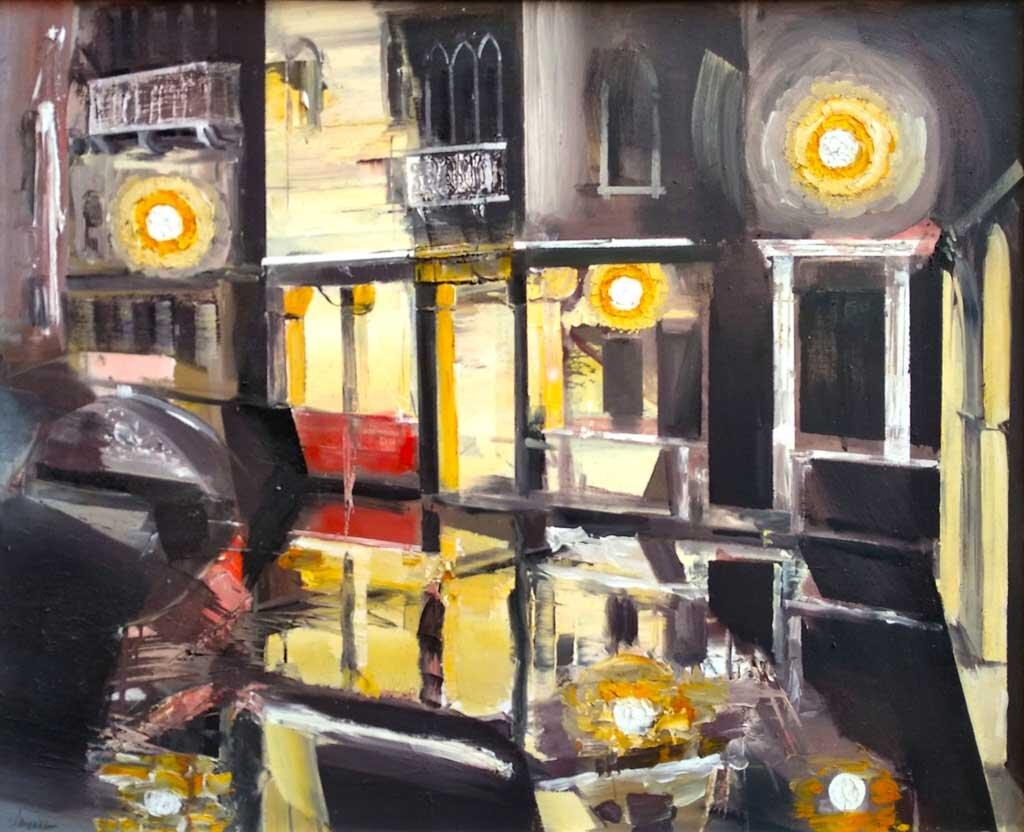 Veneziani: Notturno, olio su tela, 80x100 cm